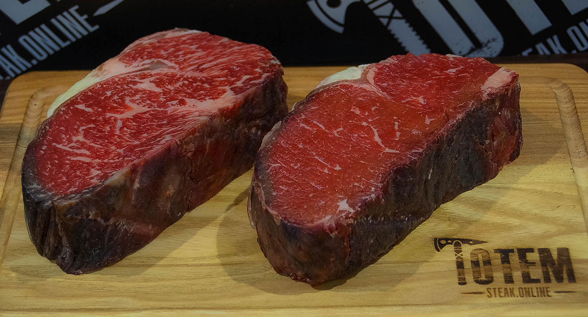 steaks with different marbling 1 Totem Steak